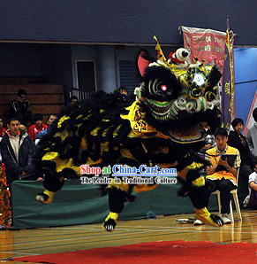 Powerful Long Wool Lion Dance Head and Costume Complete Set