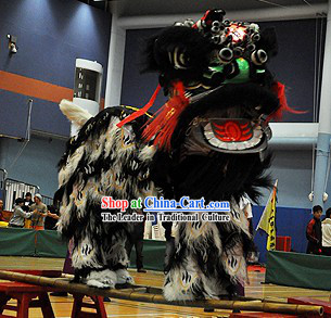 Powerful Old Style Fut San Zhang Fei Lion Dance Costume Complete Set