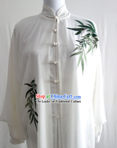 Top Embroidered Bamboo Tai Chi Costumes Three Pieces Complete Set