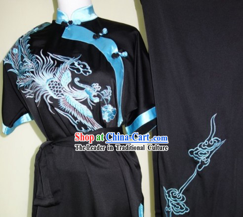 Traditional Kung Fu Silk Uniform Black
