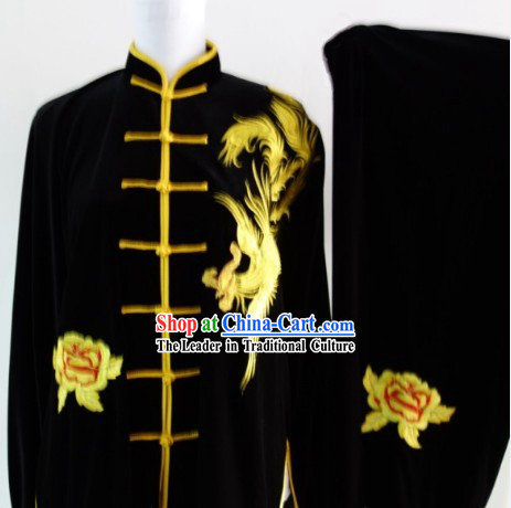Chinese Top Martial Arts Shop Pleuche Costumes Complete Set
