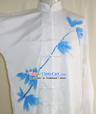 Hand Painted Bamboo Martial Art Dresses, Sportswear & Accessories