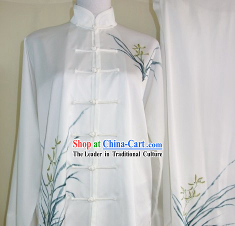 Hand Painted Orchid Martial Art Dresses, Sportswear & Accessories