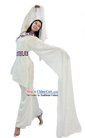 White Water Sleeves Classical Dance Costumes for Women