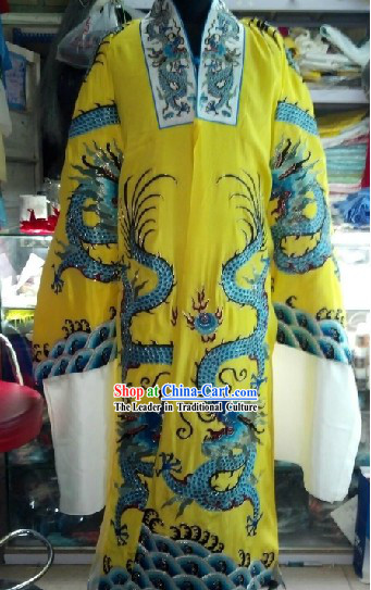Ancient Chinese Dragon Embroidery Long Robe for Men