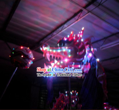 LED Lights Dragon Dance Costumes Complete Set