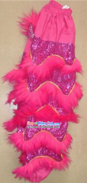 Traditional Chinese Long Wool Lion Dance Pants