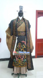 Ancient Chinese Prince Costumes and Headwear Complete Set for Men