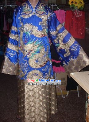 Traditional Chinese Beijing Opera Dragon Embroidery Stage Performance Costumes