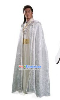 Ancient Chinese Swordsman Dresses with Long Cape