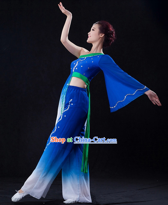 Professional Stage Performance Color Transition Dancing Costumes
