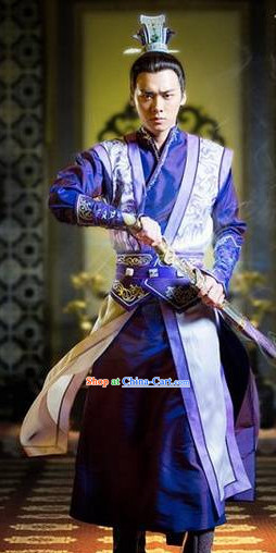 Legend of Ancient Sword Purple Swordman Costume Complete Set