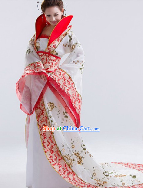 High Collar Ancient Chinese Empress Outfit