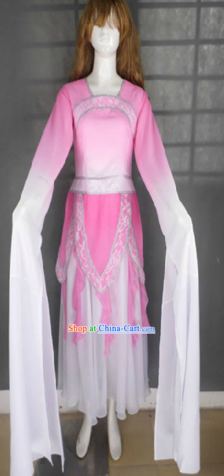 Pink Tao Yao Classic Dance Costumes with Long Sleeves