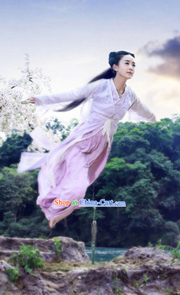 the Journey of Flower TV Drama Hua Qian Gu Fairy Dress Complete Set for Women