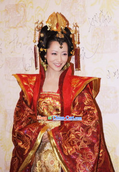 Ancient Chinese Imperial Palace Royal Empress Headpiece and Wig