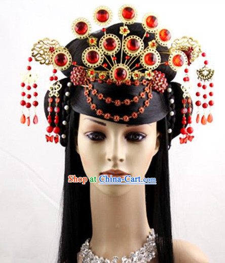 Ancient Chinese Empress Wig and Hair Decoration