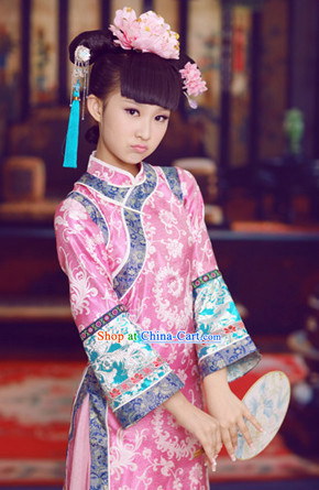 Chinese Qing Dynasty Princess Costume for Teenagers