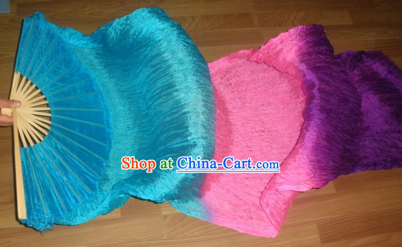 71 Inches Long Color Change Silk Dancing Ribbon Fan