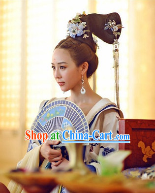 Handmade Chinese Empress Wig and Hair Accessories Hairpins Free Shipping