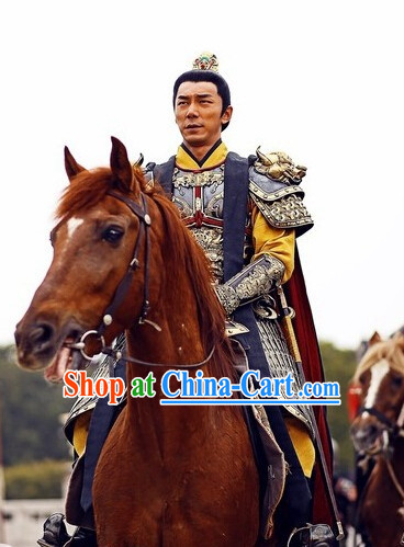 Chinese Traditional Knight Armor Costume for Men