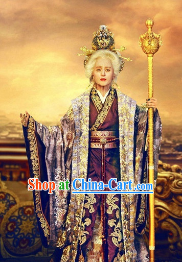 Empress Wu Ze Tian Biography Clothing and Headpieces Complete Set