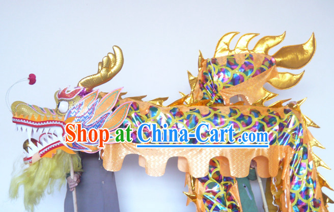 Rainbow Color Chinese New Year Dragon Dance Costumes Complete Set