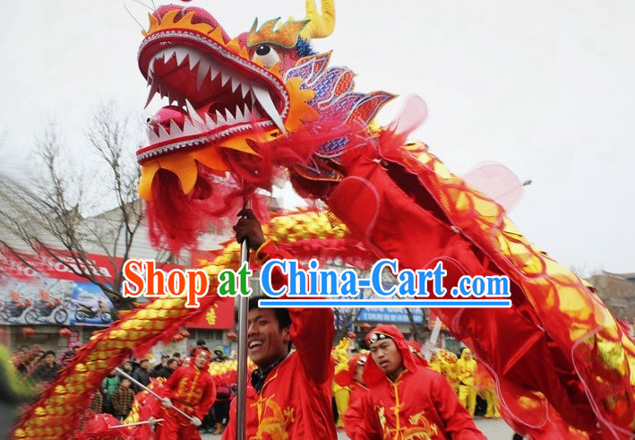 Chinese New Year Dragon Dance Equipment Complete Set