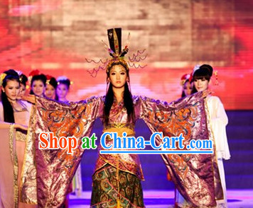 Wang Zhaojun Costumes and Hat Complete Set