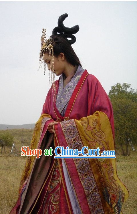 Wang Zhaojun Hanfu Clothing and Hair Accessories Complete Set
