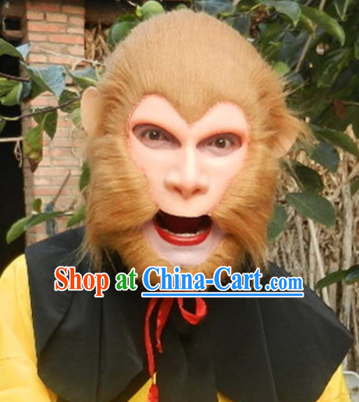 Sun Wukong Monkey King Fur Mask Wig