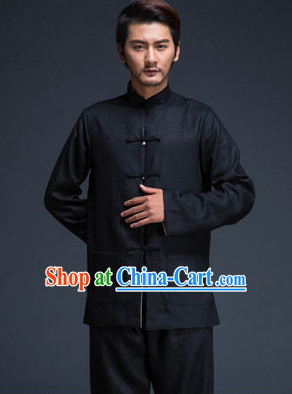 Black Traditional Martial Arts Uniforms for Men