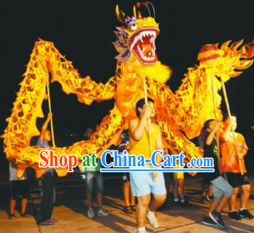Parade and Competition Shinning Gold Dragon Dance Costumes Complete Set for Six Kids