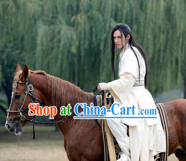 Chinese White Swordman Dress for Men