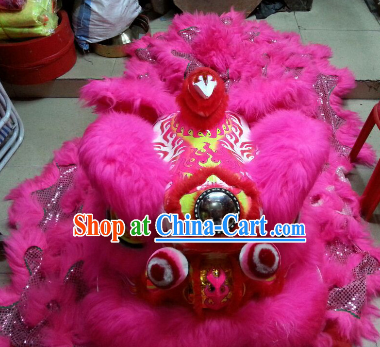 Top Chinese New Year Parade Lion Dance Costume Complete Set
