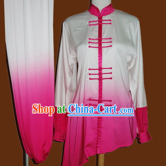 Color Transition Embroidered Traditional Karate Outfit