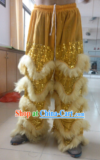 Professional Silk and Wool Lion Dance Pants