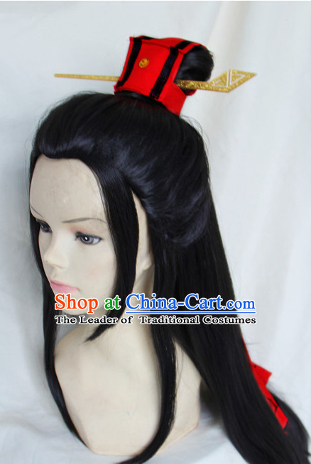 Ancient Chinese Superhero Black Wigs