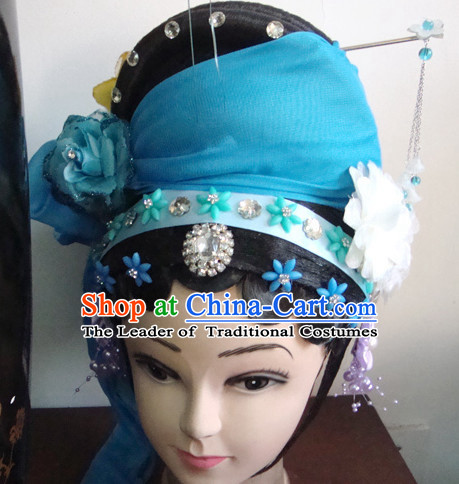 Theatrical Performances Chinese Meng Jiang Nv Hairstyles Fascinators Fascinator Wholesale Jewelry Hair Pieces and Wigs