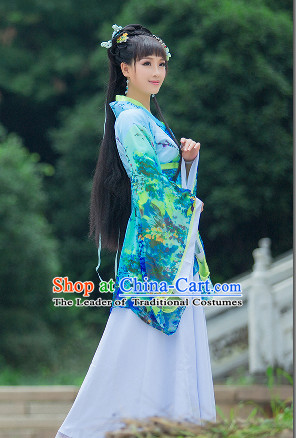 Asian Chinese Hanfu Halloween Costume Cosplay Costumes Superhero Costumes Complete Set