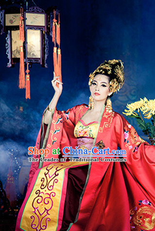 Asian Chinese Ancient Imperial Queen Halloween Costume Cosplay Costumes Complete Set