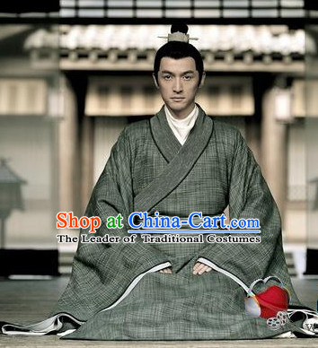 Asia China Han Dynasty Clothing Complete Set for Men