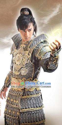 Asian China Superhero Halloween Costume Armor Costumes Complete Set for Men
