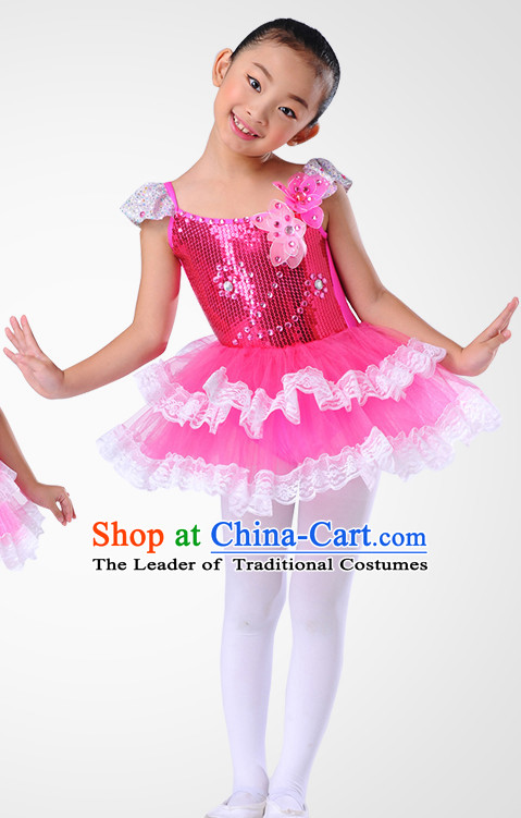 Chinese Folk Flower Dance Costume Wholesale Clothing Discount Dance Costumes Dancewear Supply and Headpieces for Children