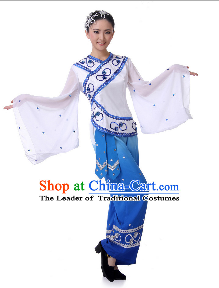 Chinese Fan Ethnic Dance Costume Wholesale Clothing Group Dance Costumes Dancewear Supply for Lady