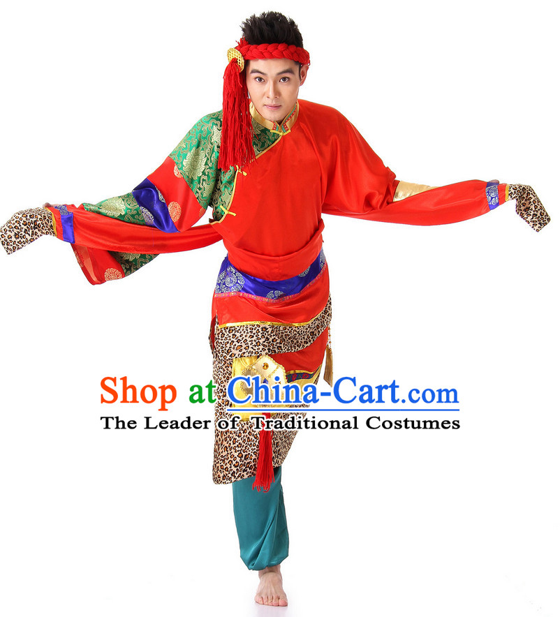 Chinese Fan Dance Costume Wholesale Clothing Group Dance Costumes Dancewear Supply for Men