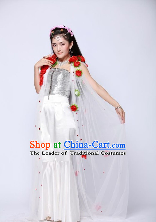 Chinese Shang Dynasty Myth Daji Su Da Ji Costume Fox Spirit Fox Queen Costumes Chinese Costume and Hair Accessories Complete Set