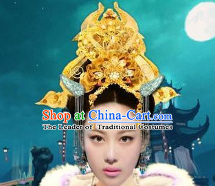 Ancient Chinese Empress Crown Hair Jewelry