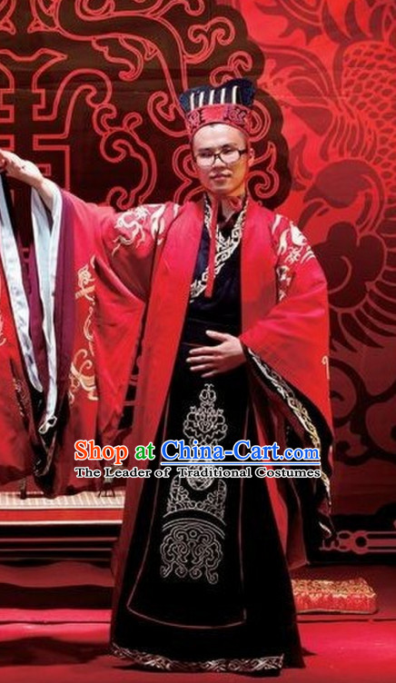 Western Zhou Dynasty Wedding Dress Clothing Clothes Garment for Men