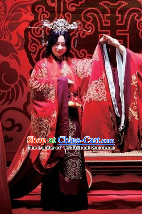 Western Zhou Dynasty Wedding Dress Clothing Clothes Garment for Women